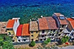 La città di Scilla nella provincia di Reggio Calabria, Italia immagini stock