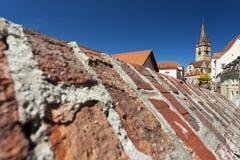 La città di Sibiu, Romania Fotografia Stock Libera da Diritti