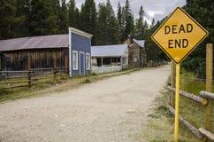 La città di St Elmo in Colorado fotografia stock