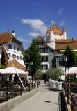 La città di Thun, Svizzera Fotografia Stock