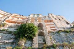 La città di Tropea, Calabria, vista dal mare Immagini Stock Libere da Diritti