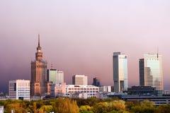 La città di Varsavia Fotografie Stock Libere da Diritti