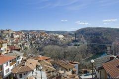 La città di Veliko Tarnovo, Bulgaria Fotografia Stock Libera da Diritti