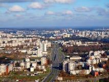 La città di Vilnius Immagine Stock