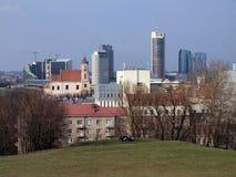 La città di Vilnius Fotografia Stock Libera da Diritti