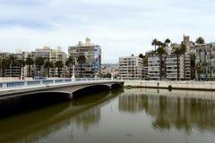 La città di Vina del Mar, il centro amministrativo del comune omonimo, parte della provincia di Valparaiso Fotografie Stock