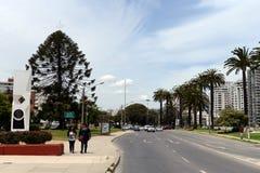 La città di Vina del Mar, il centro amministrativo del comune omonimo, parte della provincia di Valparaiso Immagine Stock