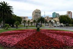 La città di Vina del Mar, il centro amministrativo del comune omonimo, parte della provincia di Valparaiso Immagini Stock Libere da Diritti