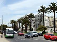 La città di Vina del Mar, il centro amministrativo del comune omonimo, parte della provincia di Valparaiso Fotografia Stock Libera da Diritti