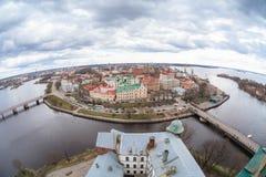 La città di Vyborg Immagini Stock