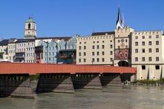 La città di Wasserburg, Germania Fotografia Stock Libera da Diritti