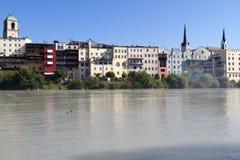La città di Wasserburg, Germania Immagini Stock
