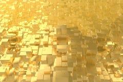 La città dorata di idea ricca di concetto di ricchezza al tramonto rays il fondo astratto dello spazio rappresentazione dell'illu fotografie stock