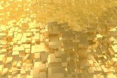 La città dorata di idea ricca di concetto di ricchezza al tramonto rays il fondo astratto dello spazio rappresentazione dell'illu fotografia stock
