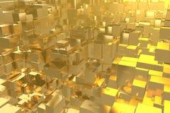 La città dorata di idea ricca di concetto di ricchezza al tramonto rays il fondo astratto dello spazio rappresentazione dell'illu immagine stock