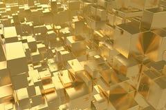 La città dorata di idea ricca di concetto di ricchezza al tramonto rays il fondo astratto dello spazio rappresentazione dell'illu immagine stock libera da diritti
