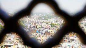 La città e la fortificazione blu di Mehrangarh a Jodhpur L'India immagini stock libere da diritti