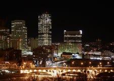 La città ed il ponticello Fotografie Stock Libere da Diritti