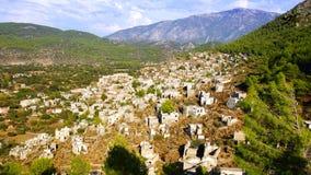 La città fantasma Kayaköy La Turchia Fotografia Stock Libera da Diritti