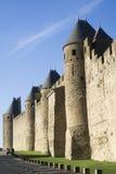 La città fortificata di Carcassonne Immagini Stock
