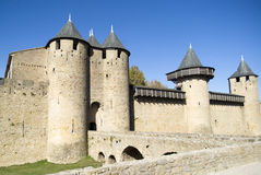 La città fortificata di Carcassonne Fotografia Stock Libera da Diritti