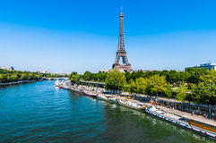 La città Francia di Parigi della torre Eiffel Fotografie Stock