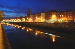 La città illumina Dblin1 Fotografia Stock