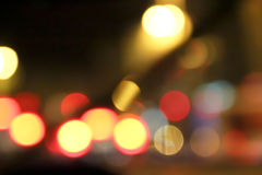 La città illumina la struttura del bokeh Immagini Stock Libere da Diritti