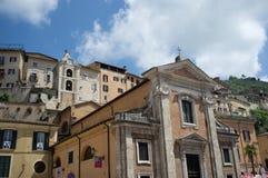 La città medievale di Arpino, Italia Fotografie Stock