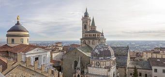 La città medievale di Bergamo, Cappella Colleoni Immagini Stock Libere da Diritti