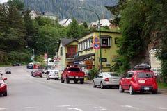 La città minuscola di principe Rupert nel Canada Fotografia Stock Libera da Diritti