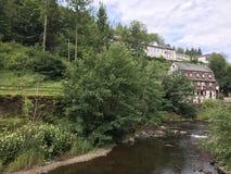 La città Monschau Fotografia Stock Libera da Diritti