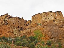 La città murata di Pitigliano, Italia Immagini Stock