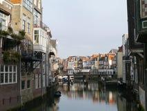 La città olandese storica Dordrecht Immagini Stock