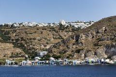 La città pittoresca dell'isola di Milo, Cicladi, Grecia Fotografie Stock