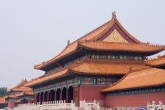 La Città proibita che costruisce Pechino, Cina Fotografia Stock