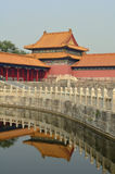 La Città proibita e riflessioni, Pechino, Cina Fotografie Stock Libere da Diritti