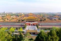 La Città proibita a Pechino fotografie stock libere da diritti