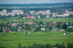 La città provinciale di Kolomyia immagini stock libere da diritti