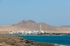 La città Puerto de la Cruz su Fuerteventura Fotografie Stock