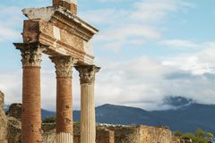La città romana antica di Pompei Immagine Stock Libera da Diritti