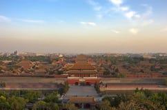 La città severa, Pechino, Cina Fotografia Stock