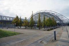 La città Stadt Lipsia Germania Deutschland di Messe della fiera campionaria fotografia stock
