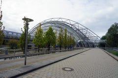 La città Stadt Lipsia Germania Deutschland di Messe della fiera campionaria immagine stock libera da diritti