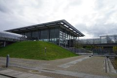 La città Stadt Lipsia Germania Deutschland di Messe della fiera campionaria immagine stock