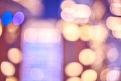 La città vaga si accende alla notte, fondo astratto Fotografia Stock Libera da Diritti