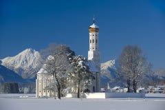 Chiesa del punto di riferimento in Baviera Fotografia Stock
