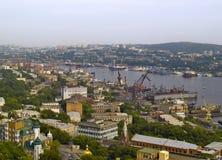 La città Vladivostok, abbaia corno dorato, Russia Fotografia Stock Libera da Diritti