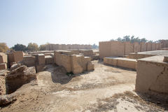 La città antica di Babilonia Immagine Stock
