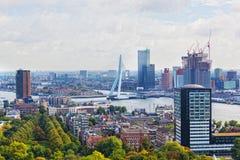 La citt? osserva Rotterdam Immagine Stock